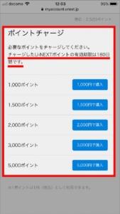 U-NEXTに登録している支払い方法でU-NEXTポイントをチャージ(購入)する方法 手順4.必要なポイント数を選択