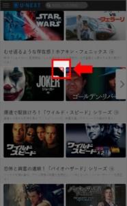 個別課金作品のビデオ(動画)のアイキャッチ画像の右上に「P」、iPhoneアプリの場合は「U」のバッチが付いています。